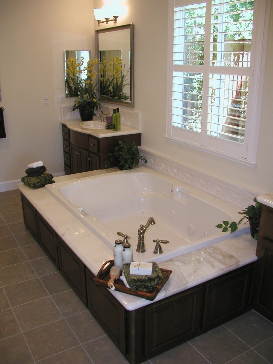 luxury bathroom in new house