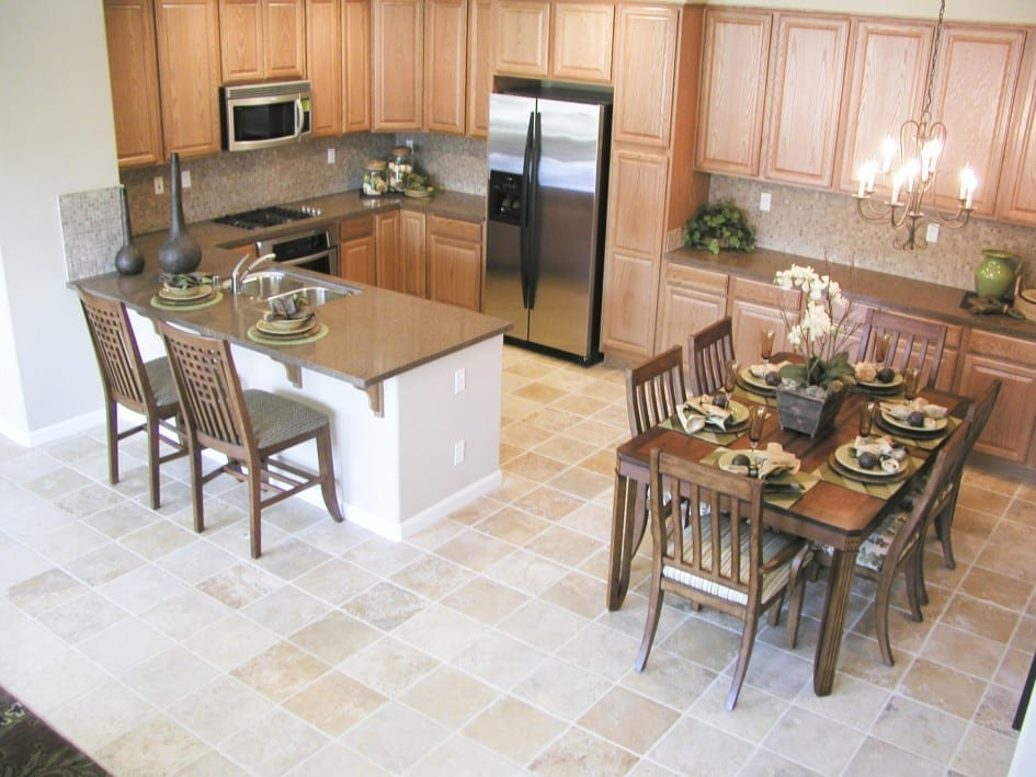 porcelain floor tiles in kitchen